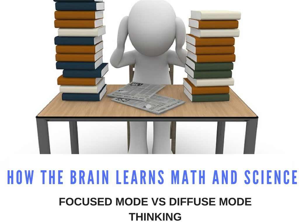 How the Brain Learns Math and Science: Focused Mode vs Diffuse Mode Thinking