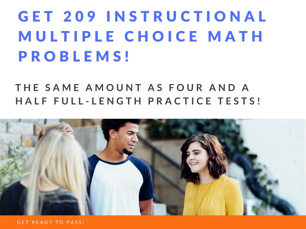 GED math product that comes with 209 practice problems